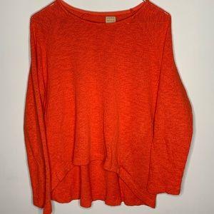 Zara Trafaluc orange high low sweater